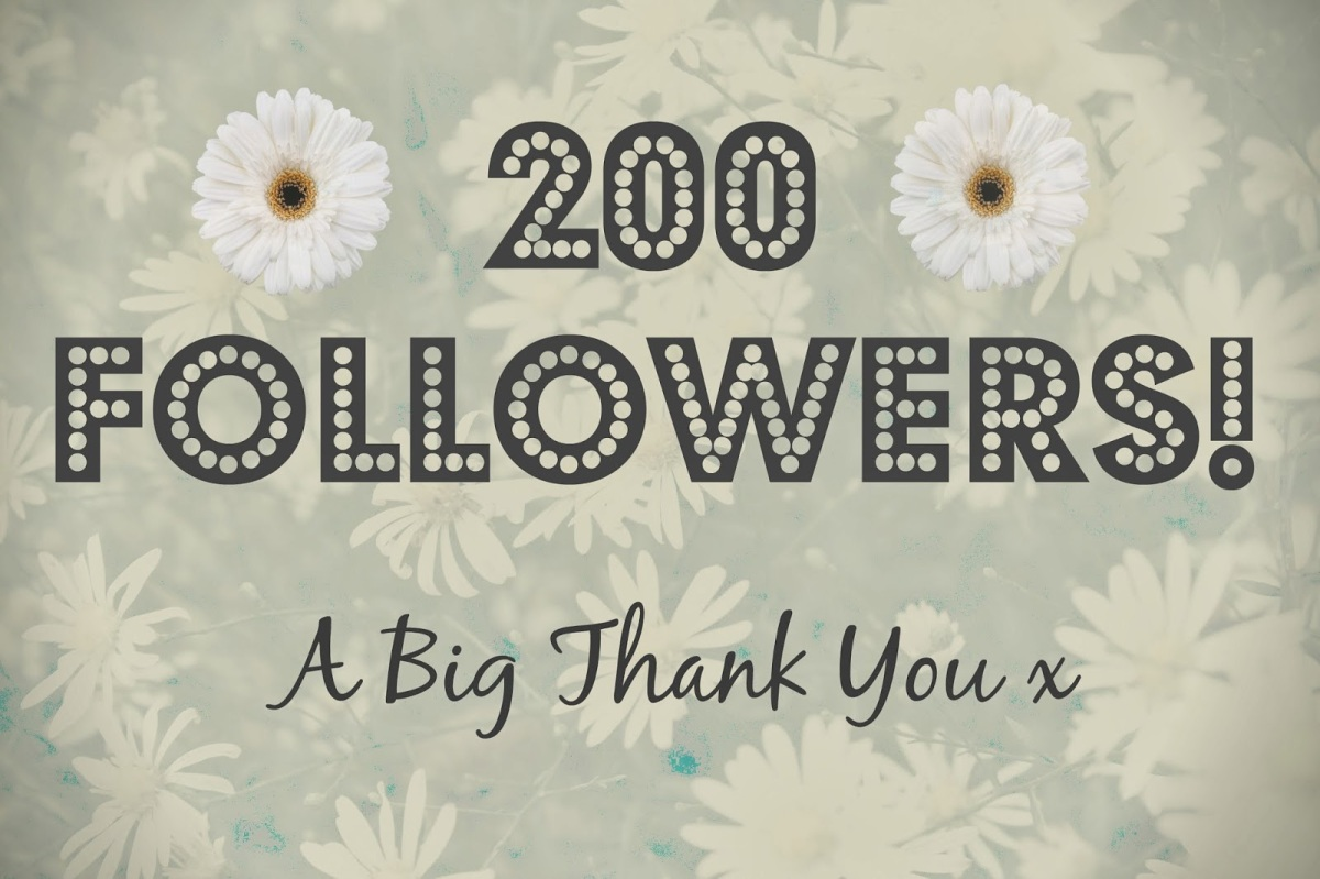 the 200 followers !!! THANK YOU